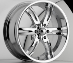 chrome rims, custom rims Dominion Type 701