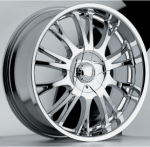 chrome rims, custom rims Driff Type 455
