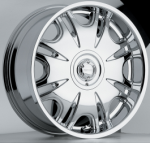 chrome rims, custom rims Tarizon Type 502
