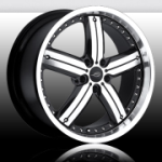 chrome rims, custom rims Javv Black