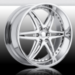 chrome rims, custom rims Moxy 6