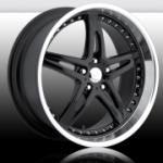 chrome rims, custom rims Moxy Black