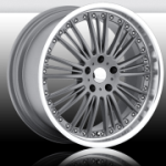 chrome rims, custom rims Neunzig Silver