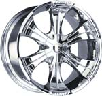 chrome rims, custom rims Visconti 903