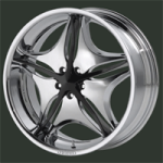 chrome rims, custom rims Anzano 837