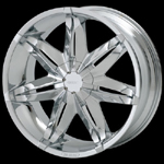 chrome rims, custom rims Desire 434