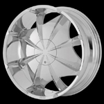 chrome rims, custom rims Envy 658