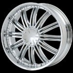 chrome rims, custom rims Jealousy 657