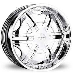 "This is the magnificent ""DIVINITY DV-24"" rim, it has a CHROME finish, a remarkable rim, has a good elegant look to it, and a very smooth ride to it, Has a mid lip for those looking for a lil lip but not too much ""JUST ENOUGH"". Very dependable rim, does not rust or mold at all like all those other flimsy rims. One of the best wheels you can have under your vehicle, to make it look beautiful and also have that fancy look."