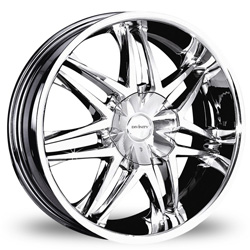 "This is the magnificent ""DIVINITY DV-26"" rim, it has a CHROME finish, a remarkable rim, has a good elegant look to it, and a very smooth ride to it, Has a mid lip for those looking for a lil lip but not too much ""JUST ENOUGH"". Very dependable rim, does not rust or mold at all like all those other flimsy rims. One of the best wheels you can have under your vehicle, to make it look beautiful and also have that fancy look"