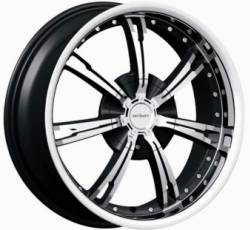 "This is the unique ""DIVINITY DV-60"" rim, it has a BLACK/W CHROME finish, a very beautiful rim, has a good elegant look to it, and a very smooth ride to it, Has a mid lip for those looking for a lil lip but not too much ""JUST ENOUGH"". Very dependable rim, does not rust or mold at all like all those other flimsy rims. One of the best wheels you can have under your vehicle, to make it look beautiful and also have that fancy look.."