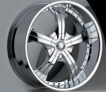 The Devino Adama 430 is a beautiful wheel. When you wake up in the morning you will love to see this wheel on your vehicle. This wheel has a deep lip with the rivets to accent the wheel and with the 5 spokes this wheel will chop the streets hard.