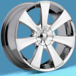 This is a beautiful wheel. When you wake up in the morning you will love to see this wheel on your vehicle. This wheel has 7 spokes this wheel will chop the streets hard.