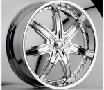 This is a beautiful wheel. When you wake up in the morning you will love to see this wheel on your vehicle. This wheel has a deep lip with the rivets to accent the wheel and with the 7 spokes and exposed lugs this wheel will chop the streets hard.