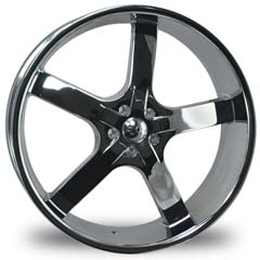 "This is the astonishing ""U2 55A"" rim, it has a BLACK/W CHROME finish , a very outstanding rim, has a good smooth look to it, and a very righteous ride to it, Has mid lip for those looking for a rim with a lil lip but enough lip and enough rim. Very dependable rim, does not rust or mold at all like all those other flimsy rims. One of the best wheels you can have under your vehicle, to make it look beautiful and also has the CONFIDENT look to it."