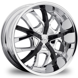 "This is the unique ""VCT ROMANO"" rim, it has a BLACK/W CHROME finish , a very outstanding rim, has a good smooth look to it, and a very righteous ride to it, Has mid lip for those looking for a rim with a lil lip but enough lip and enough rim. Very dependable rim, does not rust or mold at all like all those other flimsy rims. One of the best wheels you can have under your vehicle, to make it look beautiful and also has the CONFIDENT look to it."