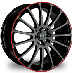 "This is the  genuine ""VELOCITY 257"" rim, it has a BLACK/W RED CHROME finish , a very outstanding rim, has a good smooth look to it, and a very righteous ride to it, Has mid lip for those looking for a rim with a lil lip but enough lip and enough rim. Very dependable rim, does not rust or mold at all like all those other flimsy rims. One of the best wheels you can have under your vehicle, to make it look beautiful and also has the one of a kind look to it."